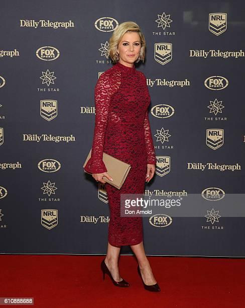 Sandra Sully arrives at the 2016 Dally M Awards at Star City on September 28, 2016 in Sydney, Australia.