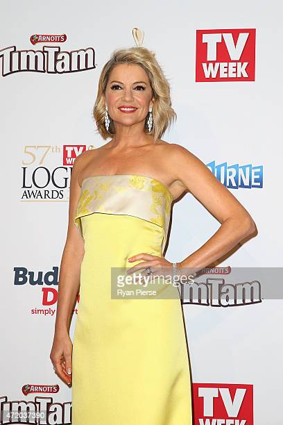 Sandra Sully arrives at the 57th Annual Logie Awards at Crown Palladium on May 3, 2015 in Melbourne, Australia.