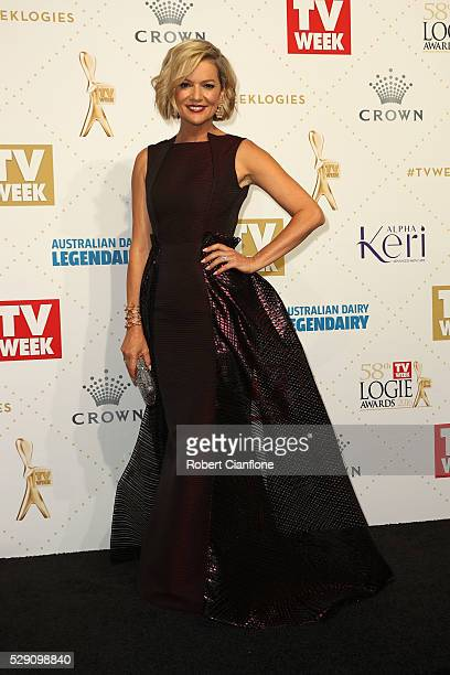 Sandra Sully arrives at the 58th Annual Logie Awards at Crown Palladium on May 8, 2016 in Melbourne, Australia.