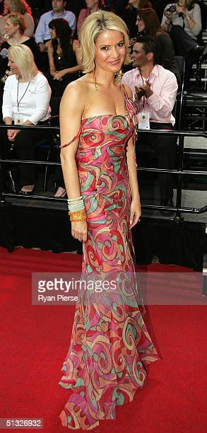 Sandra Sully arrives for the Brownlow Medal Dinner at the Crown Casino on September 20 2004 in Melbourne Australia