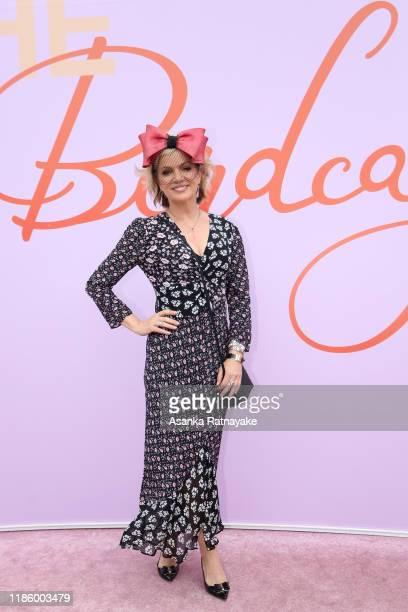 Sandra Sully attends Oaks Day at Flemington Racecourse on November 07, 2019 in Melbourne, Australia.