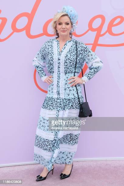Sandra Sully attends Stakes Day at Flemington Racecourse on November 09, 2019 in Melbourne, Australia.