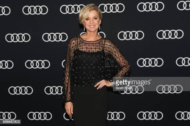 Sandra Sully poses on the media wall at the Audi Dealer of the year awards in Sydney Australia.