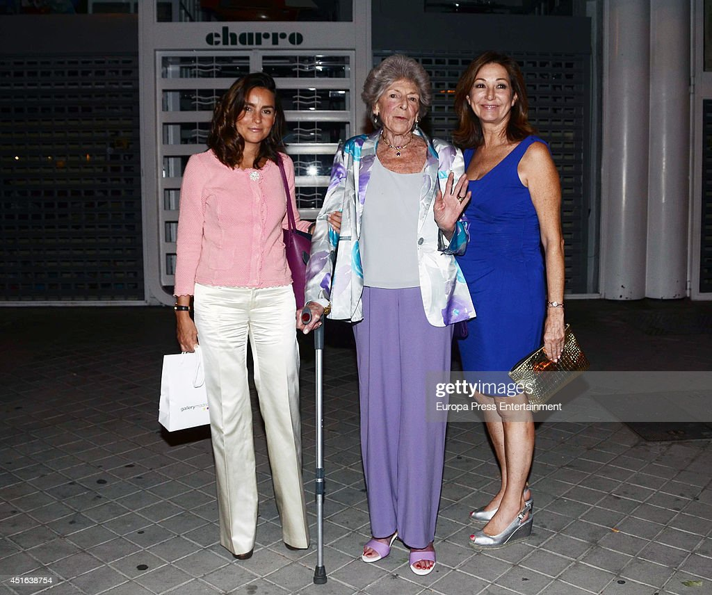 Sandra Torlonia (2L), Maria Palacios (L) and Ana Rosa Quintana (3L) are seen on June 18, 2014 in Madrid, Spain.