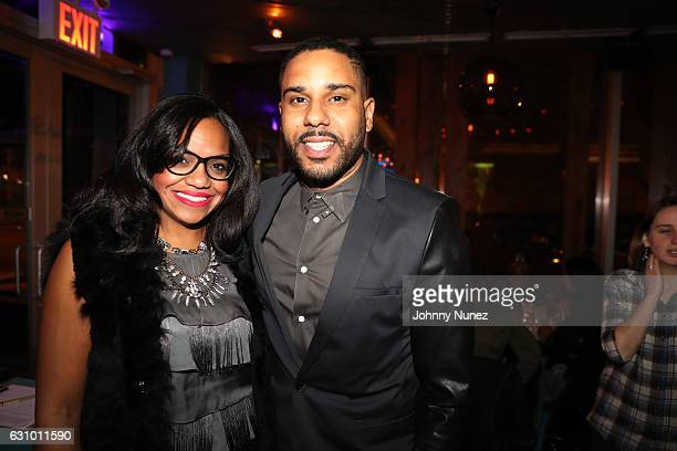 Sandra Valez and BJ Coleman attend Vivica's Black Magic Preview at Angel of Harlem on January 4 2017 in New York City