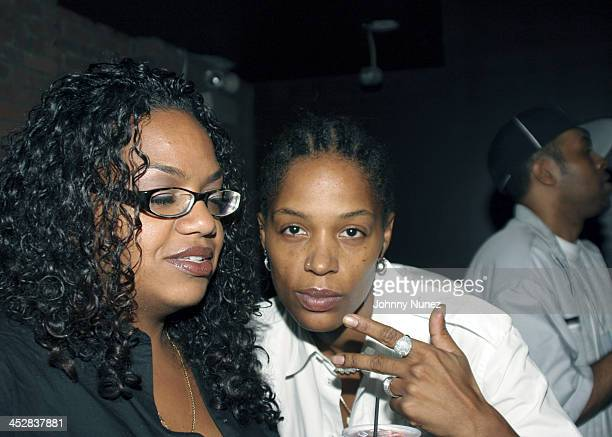 Sandra Velez and DJ Coleman during Baby Phat After Party VIP Room September 11 2005 at Guest House in New York New York United States
