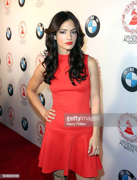 Sandra Vergara attends the Latin GRAMMY Acoustic Sessions Los Angeles on September 21 2016 in Los Angeles California