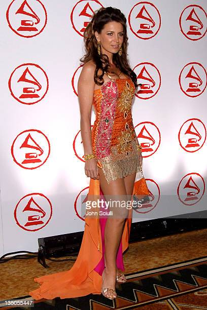 Sandra Vidal during 2005 Latin Recording Academy Person of the Year Arrivals at Regent Beverly Wilshire in Beverly Hills California United States
