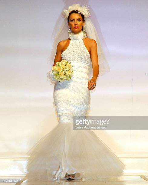 Sandra Vidal wearing Birgit Muller during City of Hope 2005 Award of Hope Gala Fashion Show and After Party at Beverly Hilton Hotel in Beverly Hills...