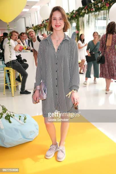 Sandra von Ruffin daughter of Vicky Leandros attends The Fashion Hub during the Berlin Fashion Week Spring/Summer 2019 at Ellington Hotel on July 5...