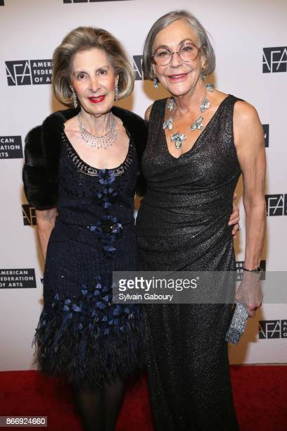 Sandra Warshawsky and Alice Walton attend the American Federation of Arts 2017 Gala and Cultural Leadership Awards at The Metropolitan Club on...