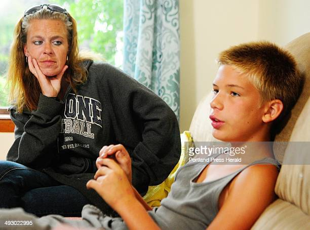 Sandra Watson, left and her son Dylan Young talk about synthetic drugs that mimic marijuana during an interview on Tuesday July 23, 2013 in Augusta....