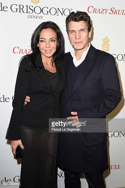 Sandra Zeitoun and Marc Lavoine attends the launch of the De Grisogono Crazy Skull watch on October 23 2014 in Paris France