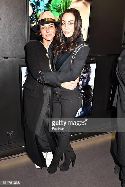Sandra Zeitoun and Stefanie Renomaattend Eat My Art Stefanie Renoma Photo Exhibition at Black Gallery on March 10 2016 in Paris France