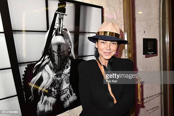 Sandra Zeitoun attends Eat My Art Stefanie Renoma Photo Exhibition at Black Gallery on March 10 2016 in Paris France
