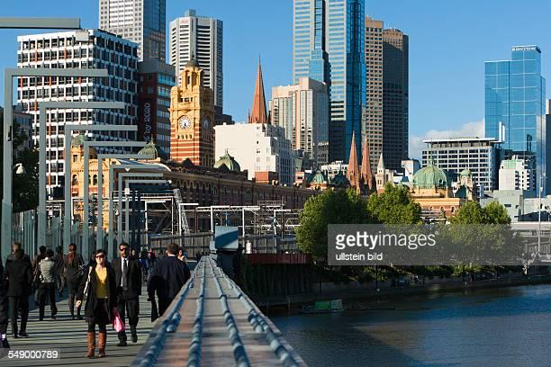 Sandridge Bridge crossing the Yarra River in Melbourne's central business district