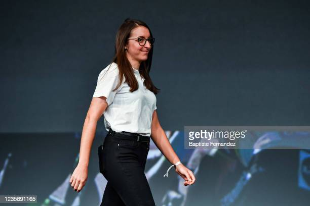 Sandrine BIDEAU during the presentation of the Tour de France 2022 at Palais des Congres on October 14, 2021 in Paris, France.