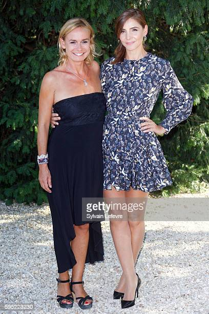 Sandrine Bonnaire and Clotilde Courau attend 9th Angouleme FrenchSpeaking Film Festival on August 25 2016 in Angouleme France