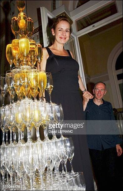 Sandrine Bonnaire And Husband Guillaume Laurent at Cabourg Romantic Film Festival in France on June 12 2004