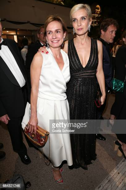 Sandrine Bonnaire and Marrakech International Film Festival director Melita Toscan Du Plantier leave the 'Ismael's Ghosts ' screening and Opening...