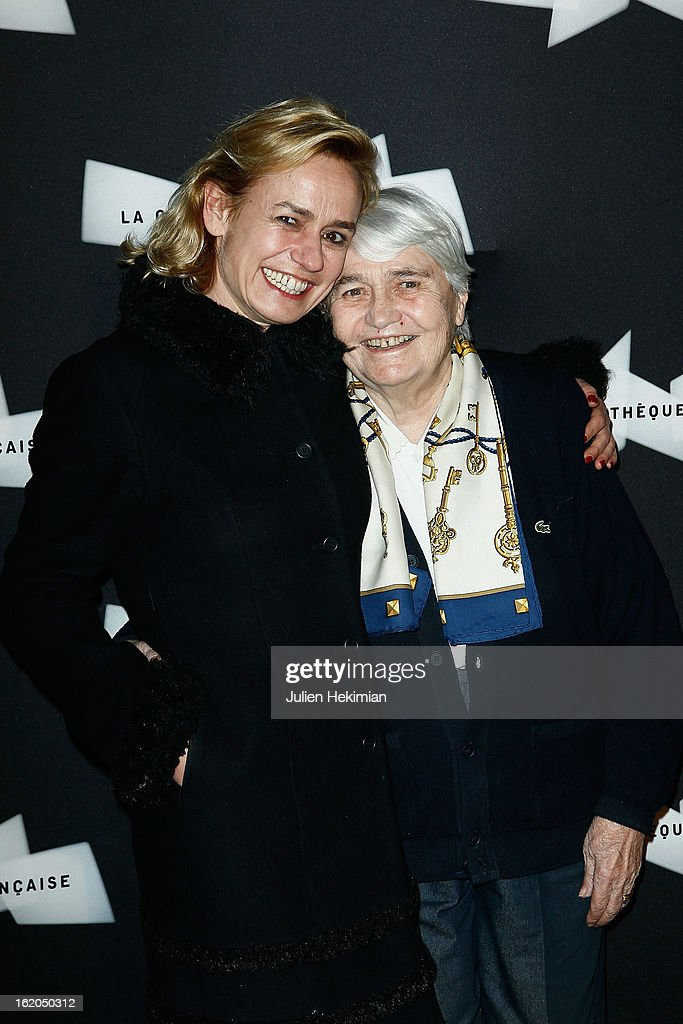 Sandrine Bonnaire (L) and Micheline Pialat attend the Maurice Pialat Exhibition And Retrospective Opening at Cinematheque Francaise on February 18, 2013 in Paris, France.