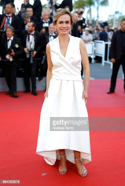Sandrine Bonnaire attends the 'Ismael's Ghosts ' screening and Opening Gala during the 70th annual Cannes Film Festival at Palais des Festivals on...