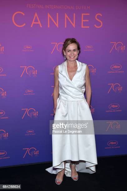 Sandrine Bonnaire attends the Opening Gala dinner during the 70th annual Cannes Film Festival at Palais des Festivals on May 17 2017 in Cannes France