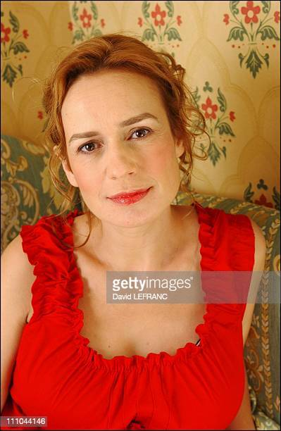 Sandrine Bonnaire for the film Le Coup de la Girafe at Cabourg Romantic Film Festival in France on June 12 2004