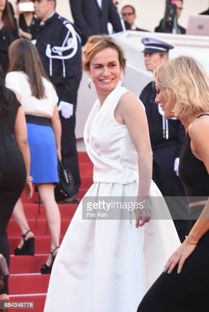 Sandrine Bonnairer attends the 'Ismael's Ghosts ' screening and Opening Gala during the 70th annual Cannes Film Festival at Palais des Festivals on...