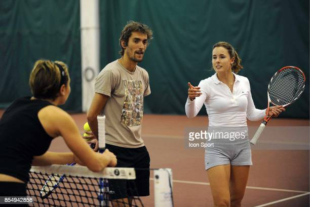 Sandrine BREMOND / Nicolas ESCUDE / Alizee CORNET Entrainement Fed Cup