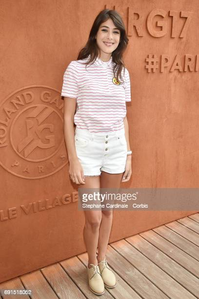 Sandrine Calvayrac attends the 2017 French Tennis Open Day Six at Roland Garros on June 2 2017 in Paris France