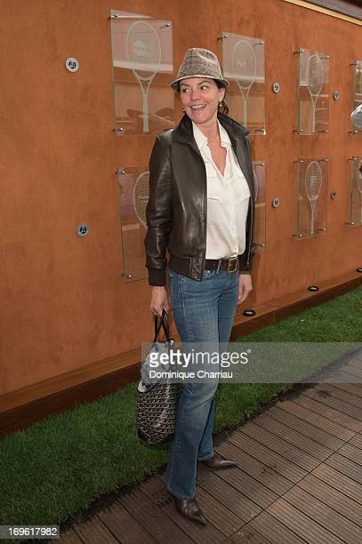 Sandrine Domingez is sighted at the French Open 2013 at Roland Garros on May 29 2013 in Paris France