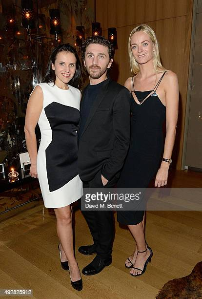 Sandrine Groslier David Korma and Virginie Courtin Clarins attend the Frieze Dinner hosted by Mugler for their handbag line launch at Rosewood London...