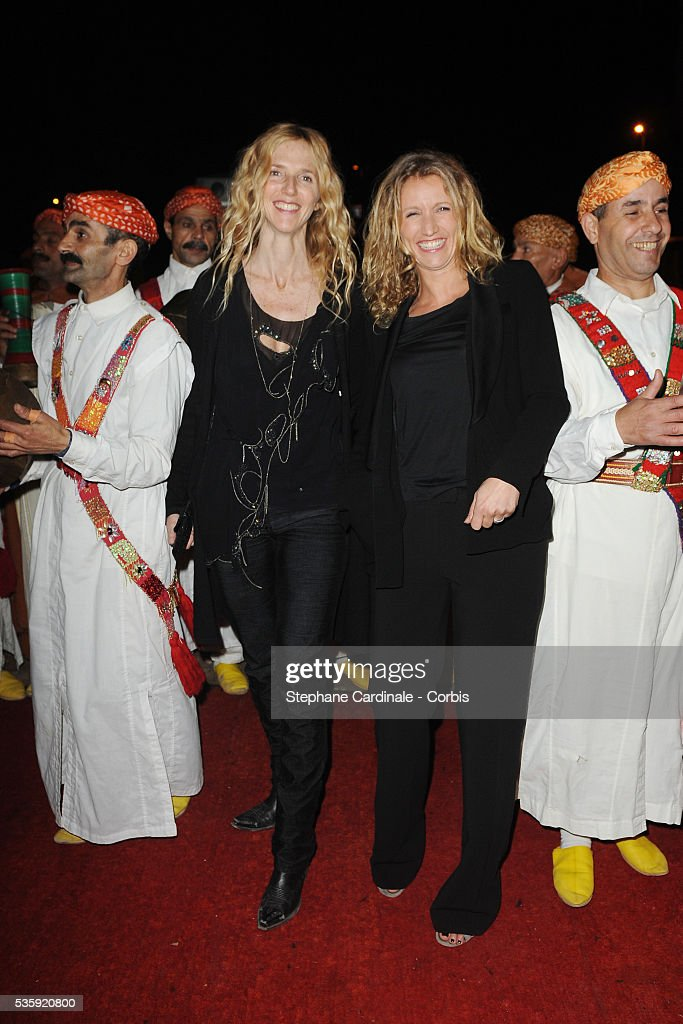 Sandrine Kiberlain and Alexandra Lamy attend The Dior Party during the Marrakech 10th Film Festival.