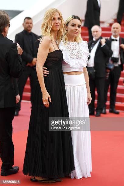 Sandrine Kiberlain and Elodie Bouchez attend the 'The Killing Of A Sacred Deer' screening during the 70th annual Cannes Film Festival at Palais des...