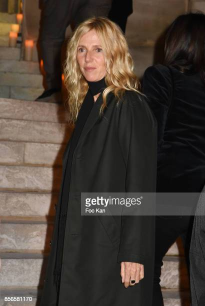 Sandrine Kiberlain attend The Vogue Party Outside Arrivals as part of the Paris Fashion Week Womenswear Spring/Summer 2018 on October 1 2017 in Paris...
