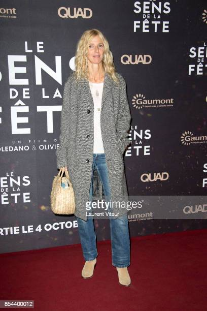 Sandrine Kiberlain attends 'Le Sens De La Fete' Paris Premiere at Le Grand Rex on September 26 2017 in Paris France