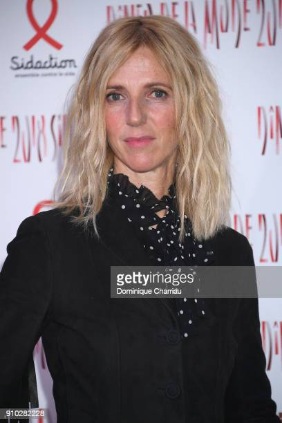 Sandrine Kiberlain attends the 16th Sidaction as part of Paris Fashion Week on January 25 2018 in Paris France