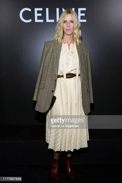 Sandrine Kiberlain attends the Celine Womenswear Spring/Summer 2020 show as part of Paris Fashion Week on September 27 2019 in Paris France