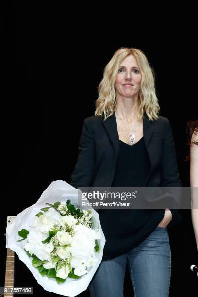 Sandrine Kiberlain Attends the Charity Gala against Alzheimer's disease at Salle Pleyel on February 12 2018 in Paris France