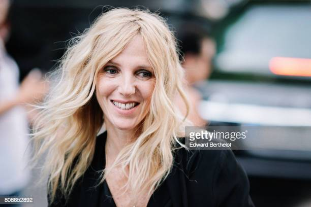 Sandrine Kiberlain attends the Vogue Foundation Dinner during Paris Fashion Week Haute Couture Fall/Winter 20172018 on July 4 2017 in Paris France