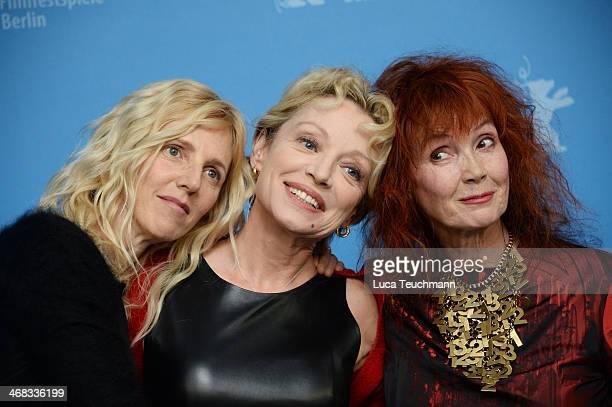 Sandrine Kiberlain, Caroline Sihol and Sabine Azema attend the 'Life of Riley' photocall during 64th Berlinale International Film Festival at...