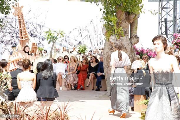 Sandrine Kiberlain Marisa Berenson Natalie Portman and Owner of LVMH Luxury Group Bernard Arnault attend the Christian Dior Haute Couture Fall/Winter...