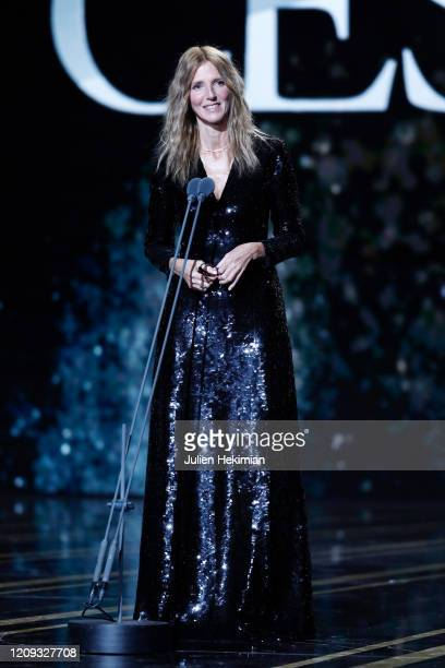 Sandrine Kiberlain on stage during the Cesar Film Awards 2020 Ceremony At Salle Pleyel In Paris on February 28 2020 in Paris France