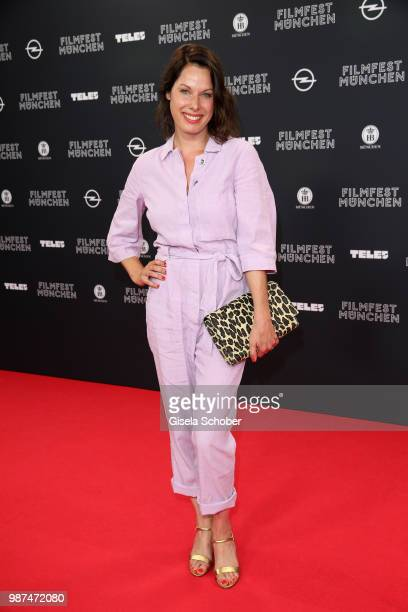 Sandrine Mittelstaedt attends the premiere of the first episode of the crimeseries 'Parfum' as part of the Munich Film Festival 2018 at Mathaeser...