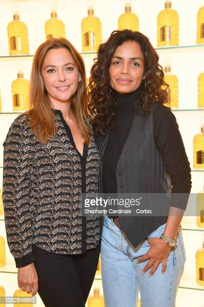 Sandrine Quetier and and Laurence Roustandjee attend the Le Coq Sportif x Guerlain launch collection at Maison Guerlain on ChampsElysees Avenue on...