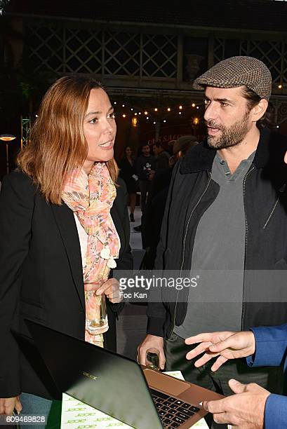 Sandrine Quetier and Gregory Fitoussi attend the Acer 40th Anniversary at Musee Des Arts Forains on September 20 2016 in Paris France