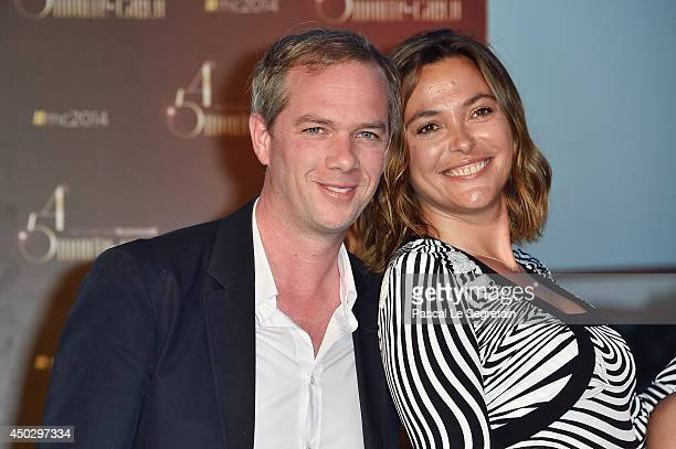 Sandrine Quetier and Julien Arnaud arrive at a party during the 54th MonteCarlo Television Festival at MonteCarlo Bay Resort on June 8 2014 in...