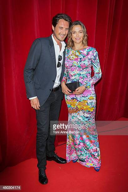 Sandrine Quetier and Vincent Cerutti attend a photocall during the 54th MonteCarlo Television Festival at Grimaldi Forum on June 8 2014 in MonteCarlo...