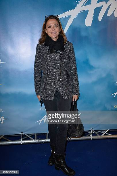 Sandrine Quetier attends a photocall prior to the Amaluna show from Cirque Du Soleil at Parc de Bagatelle on November 5 2015 in Paris France
